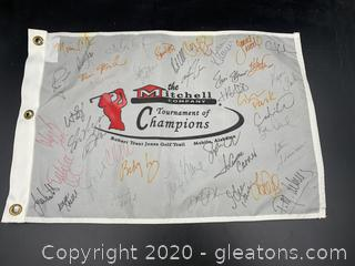 Signed Tournament of Champions Golf Flag