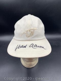 "Signed AST Baseball Cap  ""Hank Aaron"""