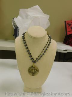 Antique Brass Statement Necklace