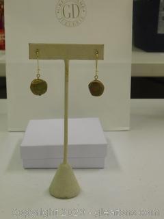 Turquoise/Yellow Gold Earrings