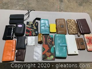 Lot of Stylish Wallets (18 Wallets)