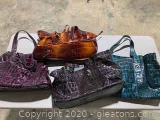 Lot of Francesco Blasia Handbags (4)