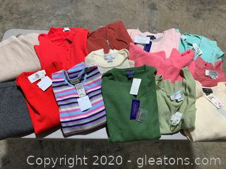 Lot of New with Tags 100% Cashmere Designer Clothing