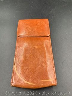 Yves Saint Laurent Leather Sunglass Case