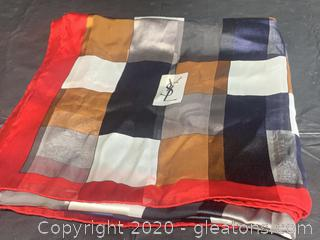 Saint-Laurent 100% Silk Scarf