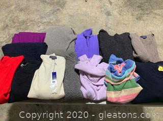 Lot of 100% Cashmere Designer Clothes