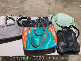 Lot of Stylish Handbags (5 Handbags)