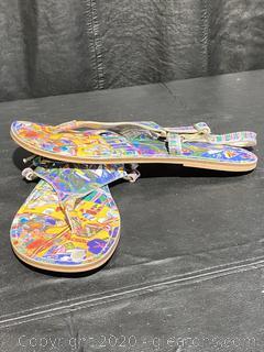 Jeon Art Graphic Beach Thong Sandals
