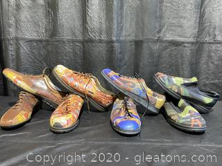 Collection Of Graphic Art Men's Shoes