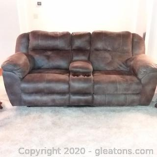 Nice Microfiber Sofa with Double Power Recliners (Goes with 5101, 5103)