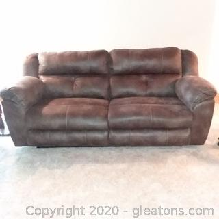 Nice Mircrofiber Sofa with Double Power Recliners (Matches 5102, 5103)