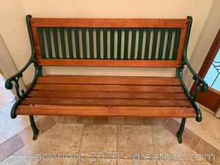 Wood and Metal Bench