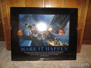 "Framed Photograph ""Make it Happen"""