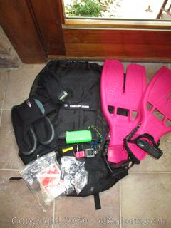 Black and Pink Diving Gear