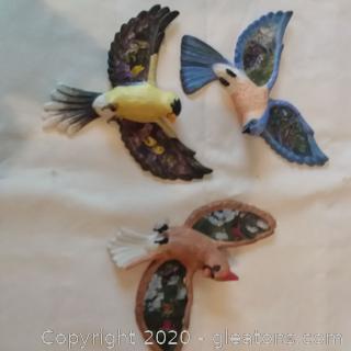 """Set of 3 Bradford Exchange """"Treasured Wings"""" Birds"""