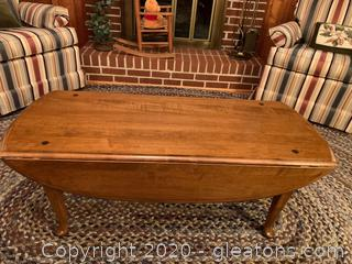 Queen Anne Style Drop Leaf Coffee Table