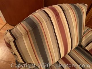 Ethan Allen Upholstered Rocking Arm Chair (B)