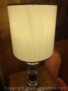 Brass Midcentury Modern Table Lamp (A)
