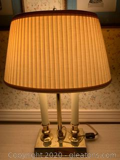 Robert Abbey Midcentury Modern Double Candlestick Table Lamp