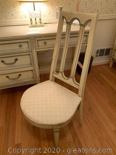 Basic-Witz Midcentury Wooden Desk Chair