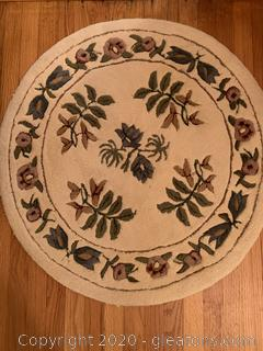 Hand Tufted Wool Floral Rug B