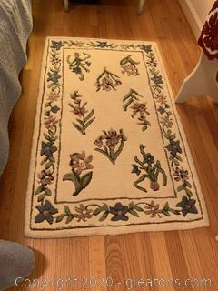 Hand Tufted Floral Rug (C)