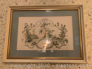 """""""Pastime"""" Baroque Style Print"""