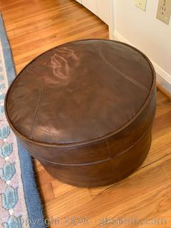 """Small Round Vintage """"Foot Stool"""" and Pillow"""