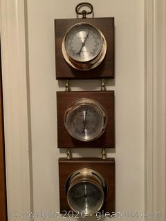 Vintage Wall Weather Station