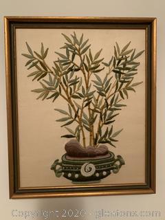 Framed Bamboo Needlework