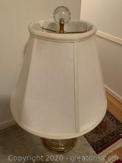 Pressed Glass Table Lamp (A)