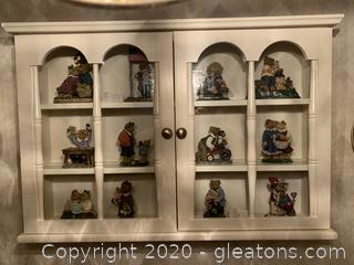 Boyd's Bears Bearstone Collection with Display Case