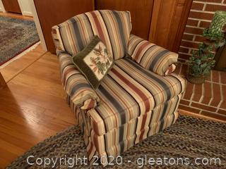 Ethan Allen Upholstered Rocking Arm Chair (A)