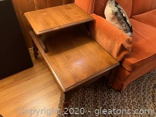 Midcentury Two-Tier End Table (A)