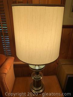 Brass Midcentury Modern Table Lamp (B)
