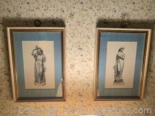Pair of Prints of Classical Statues