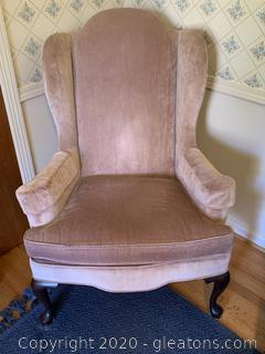 Ethan Allen Traditional Classics Wingback Vintage Arm Chair