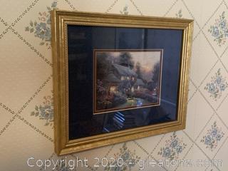 """Julianne's Cottage"" Small Print by Thomas Kinkade"