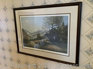 """""""Moonglow"""" a Landscape Print by Russell May, 1983"""