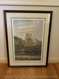 """""""Grandfather's Store"""" Rural Print by Russell May 1977"""