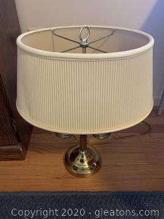 Unique Brass Double Bulb Desk Lamp