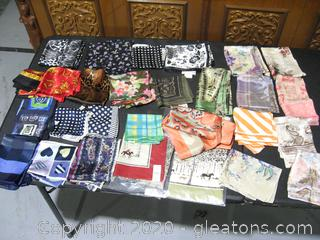 Large Collection Silk Scarves