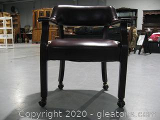Merlot Rolling Office Chair