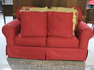 Burnt Red Love Seat