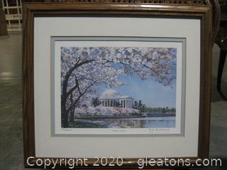 Bud Gibbons Signed Potomac Spring 61/360 Lithograph