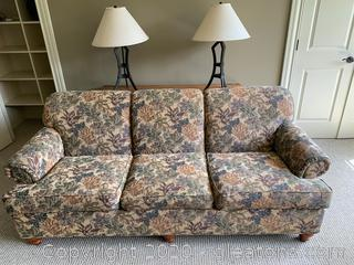 Floral Ethan Allen Couch
