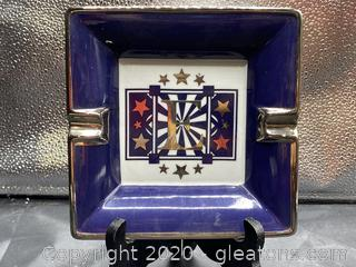 "Philippe Deshoulieres Escada ""Classic Blue"" Ashtray"