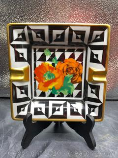 "Philippe Deshoulueres Escada ""OP Art"" Ashtray"