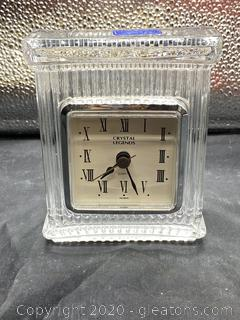 Crystal Legends by Godinger Mantel Quartz Clock