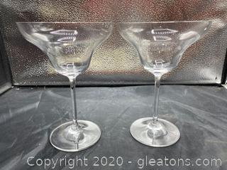 """Marquis"" by Waterford Margarita Glasses"